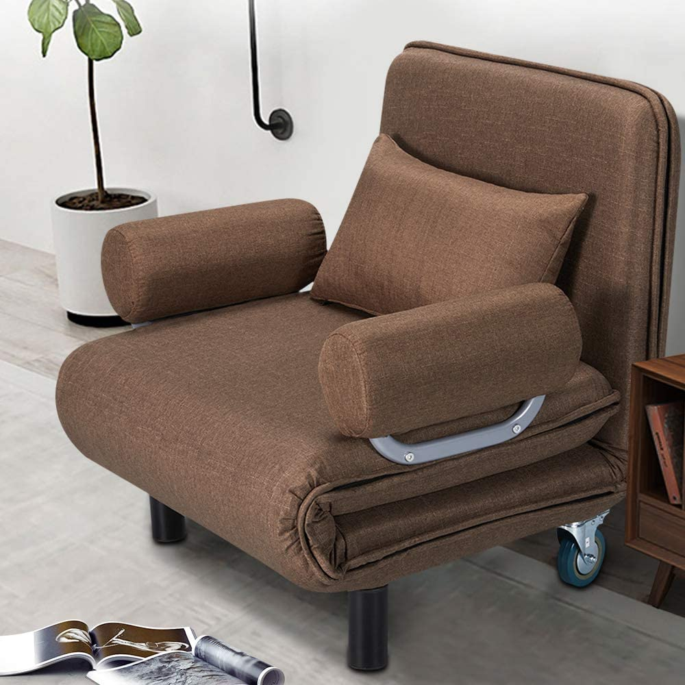 Erommy Convertible Sofa Bed Sleeper Chair Folding 5 Within Folding Sofa Chairs (View 1 of 15)