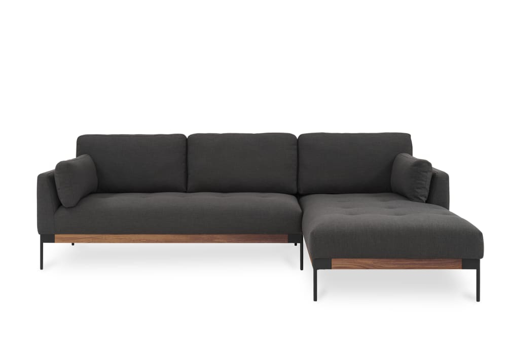 Ethan Chaise Sectional Sofa, Right Facing, Stone Grey Within Dulce Right Sectional Sofas Twill Stone (View 8 of 15)