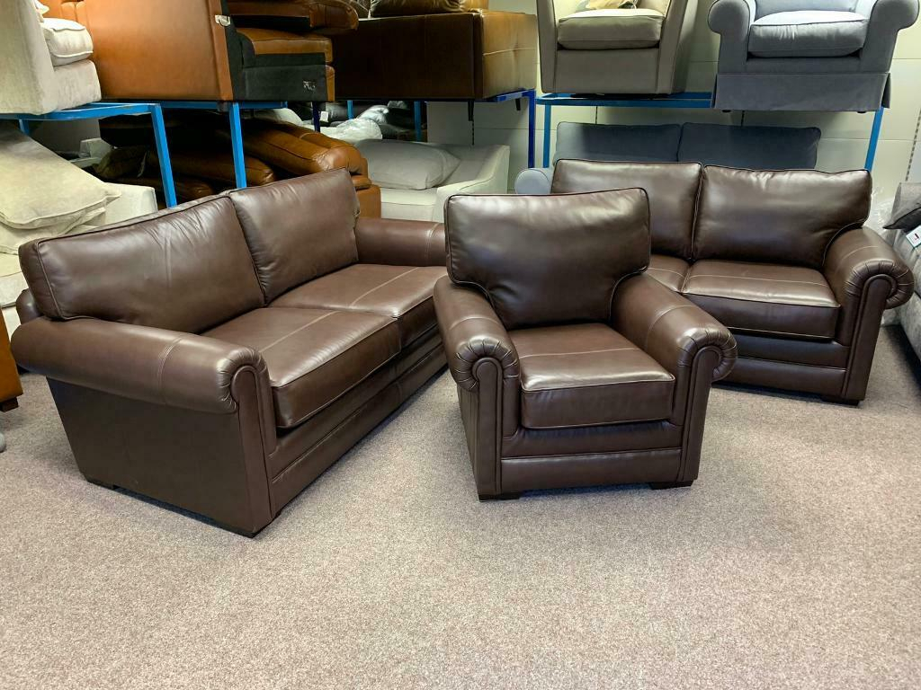 Ex Display Parker Knoll Canterbury 3 & 2 Seater Sofas In Canterbury Leather Sofas (View 5 of 12)