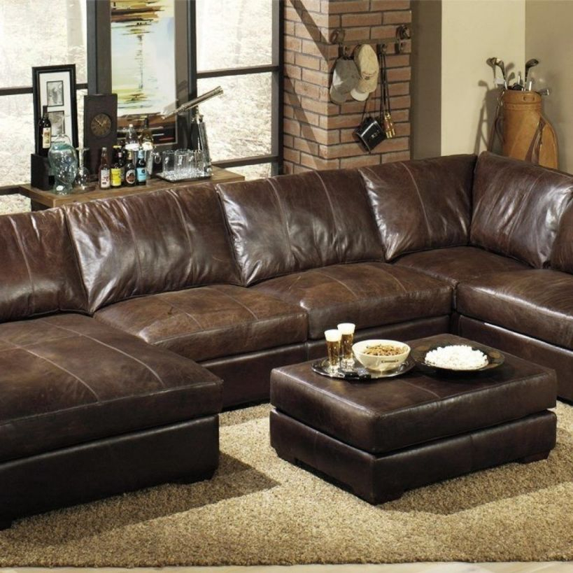 Extra Deep Leather Sectional Sofa | Ideas For Our House In For Wide Sofa Chairs (View 1 of 15)