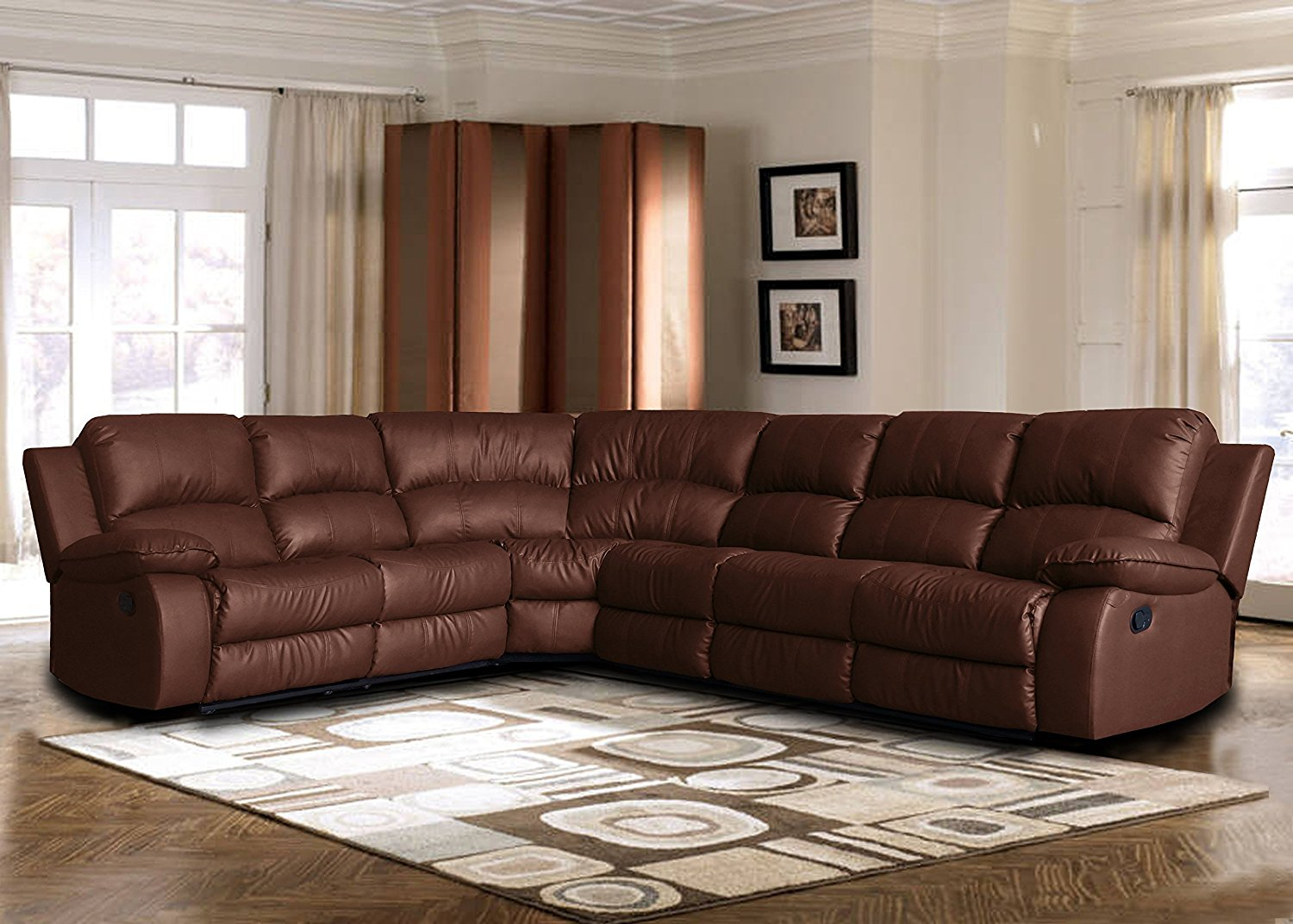 Extra Large Leather Reclining Corner Sectional Sofa For Within Big Sofa Chairs (View 4 of 15)