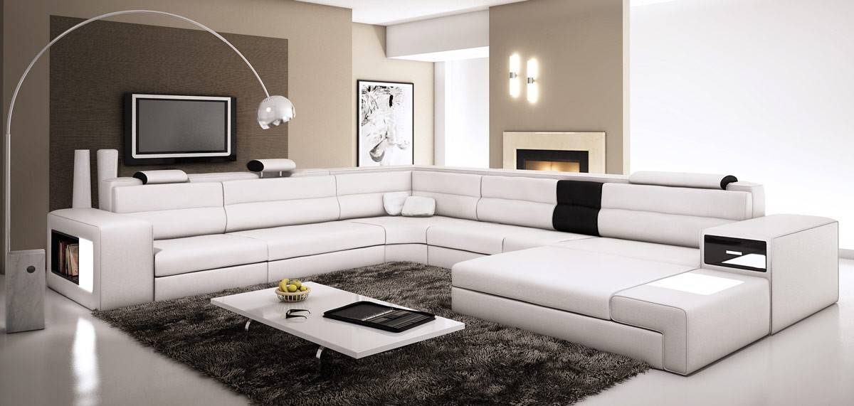 Extra Large Leather Sectional Sofa With Attached Corner Intended For Big Sofa Chairs (View 15 of 15)