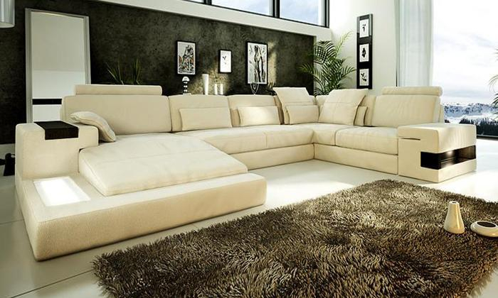 Extra Large Outdoor Furniture U Shaped Rattan Sofa With Inside Oversized Sofa Chairs (View 14 of 15)