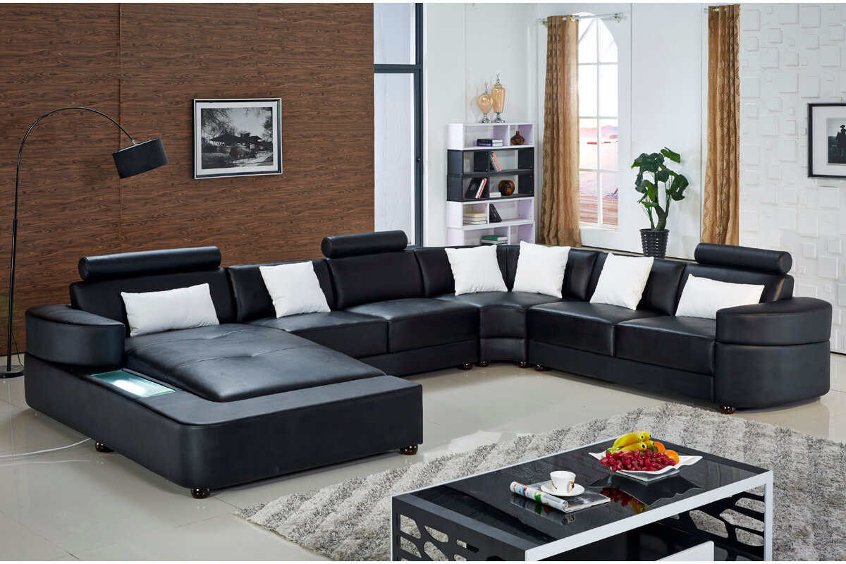 Extra Large Sectional Sofas With Chaise | White Leather Pertaining To Extra Large Sectional Sofas (View 3 of 15)