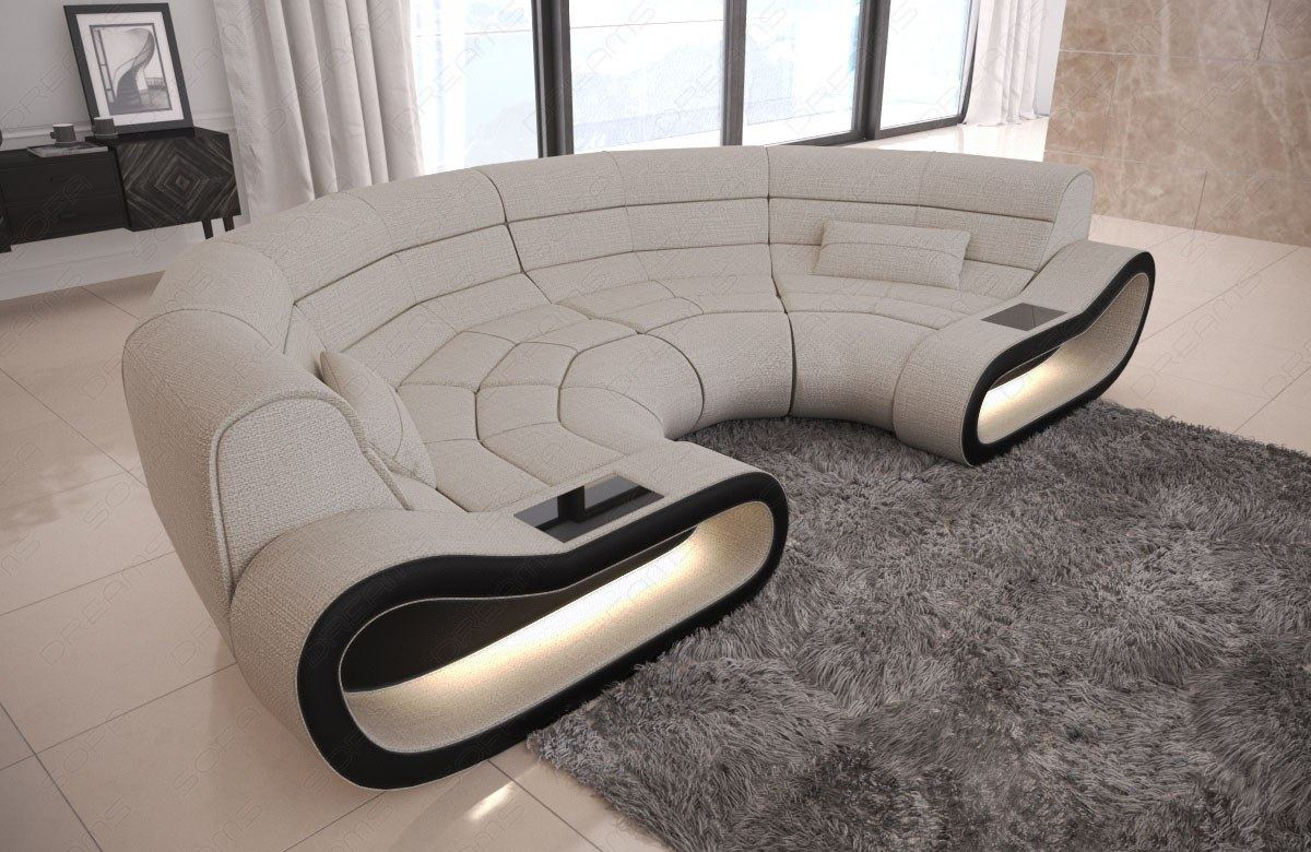 Fabric Big Couch Concept C Shape Design Sofa Modern Luxury Regarding C Shaped Sofas (View 12 of 15)
