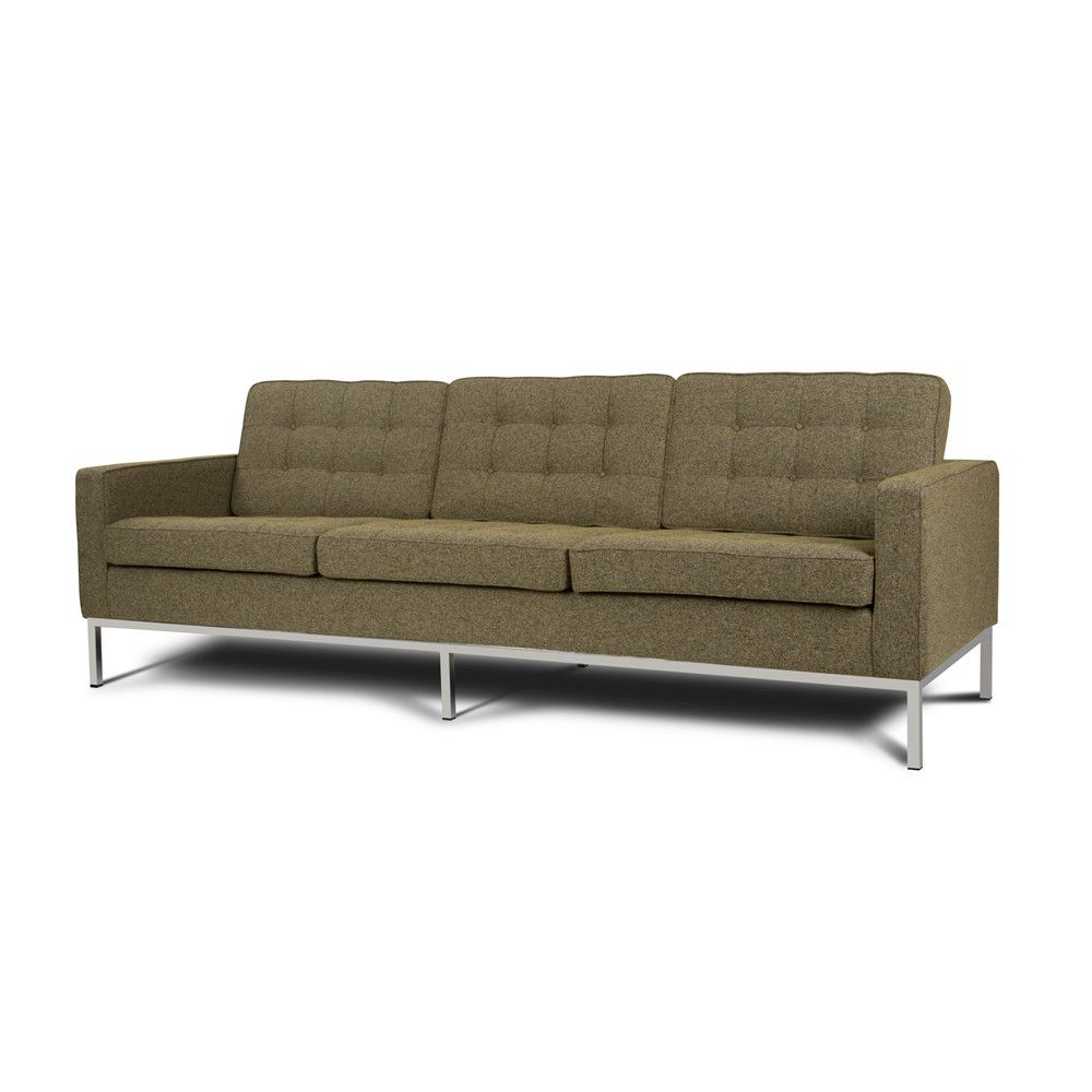 Fabric Florence Knoll Sofa Reproduction, Warranty 3 Years Pertaining To Florence Knoll Fabric Sofas (View 10 of 15)
