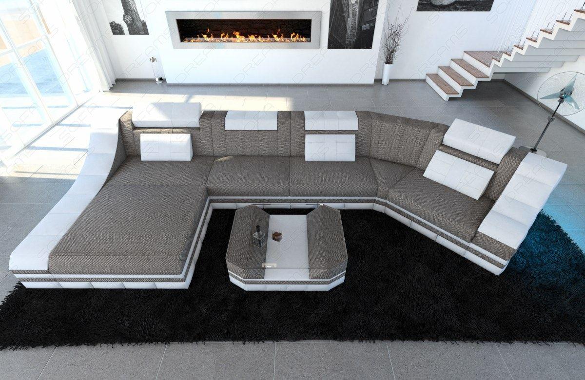 Fabric Sectional Sofa New York C Shape Modular Sofa Led For C Shaped Sofas (View 14 of 15)