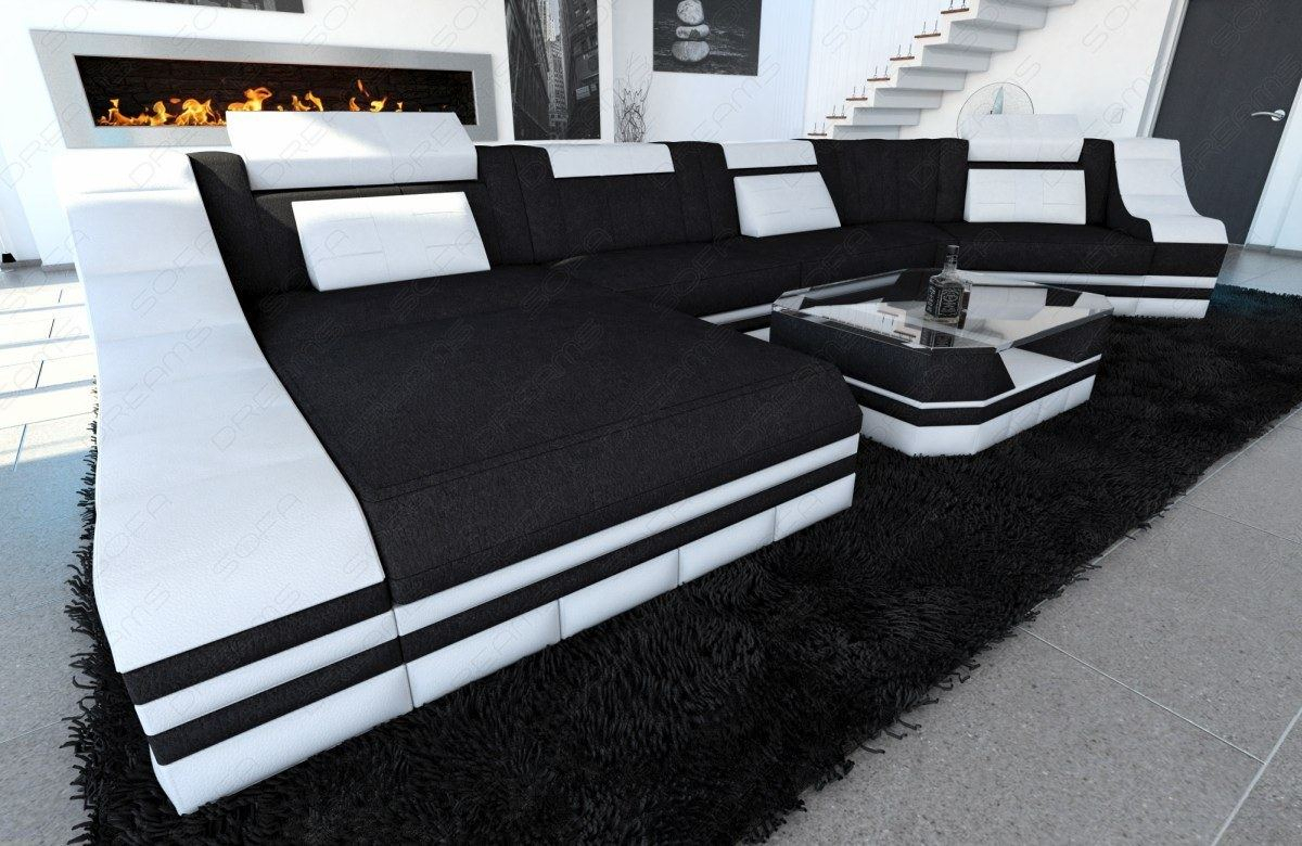 Fabric Sectional Sofa New York C Shape Modular Sofa Led In C Shaped Sofas (View 4 of 15)