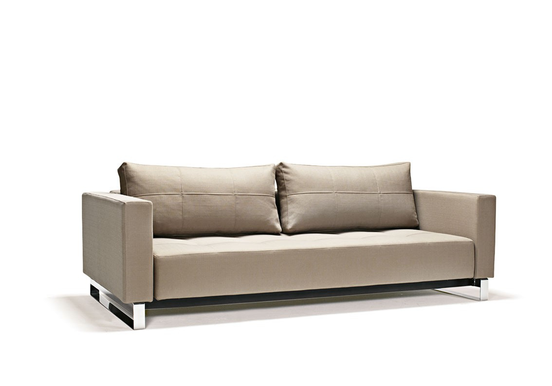 Fabric Upholstered Contemporary Sofa Bed Baton Rouge In Felton Modern Style Pullout Sleeper Sofas Black (View 7 of 15)