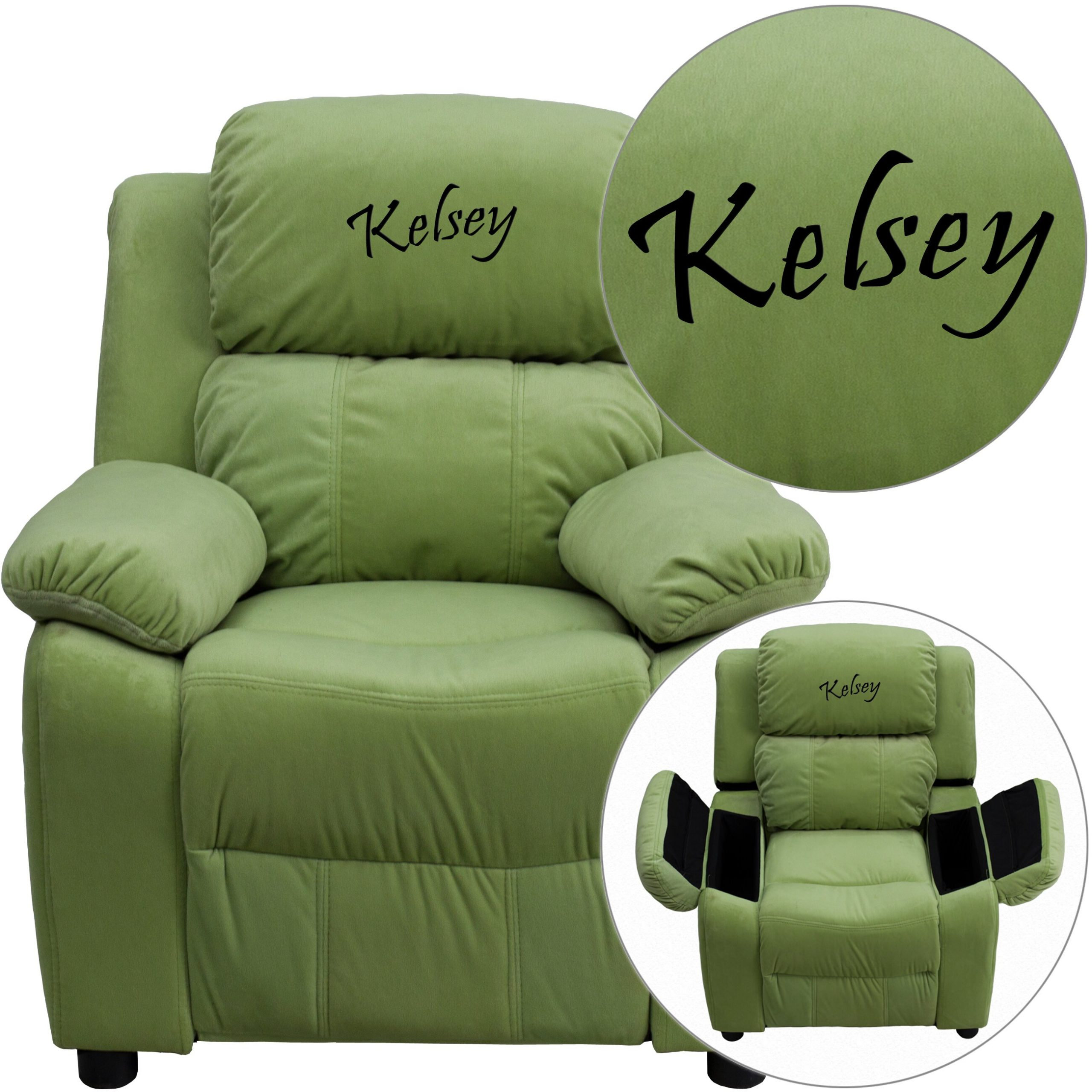 Flash Furniture Deluxe Contemporary Personalized Kids With Personalized Kids Chairs And Sofas (View 4 of 15)