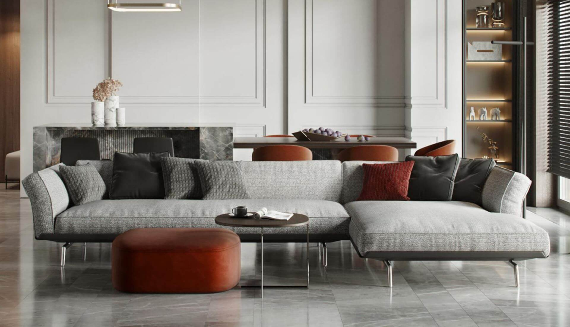 Flexform Este Modular Sofa – Dream Design Interiors Ltd Within Dream Navy 3 Piece Modular Sofas (View 15 of 15)