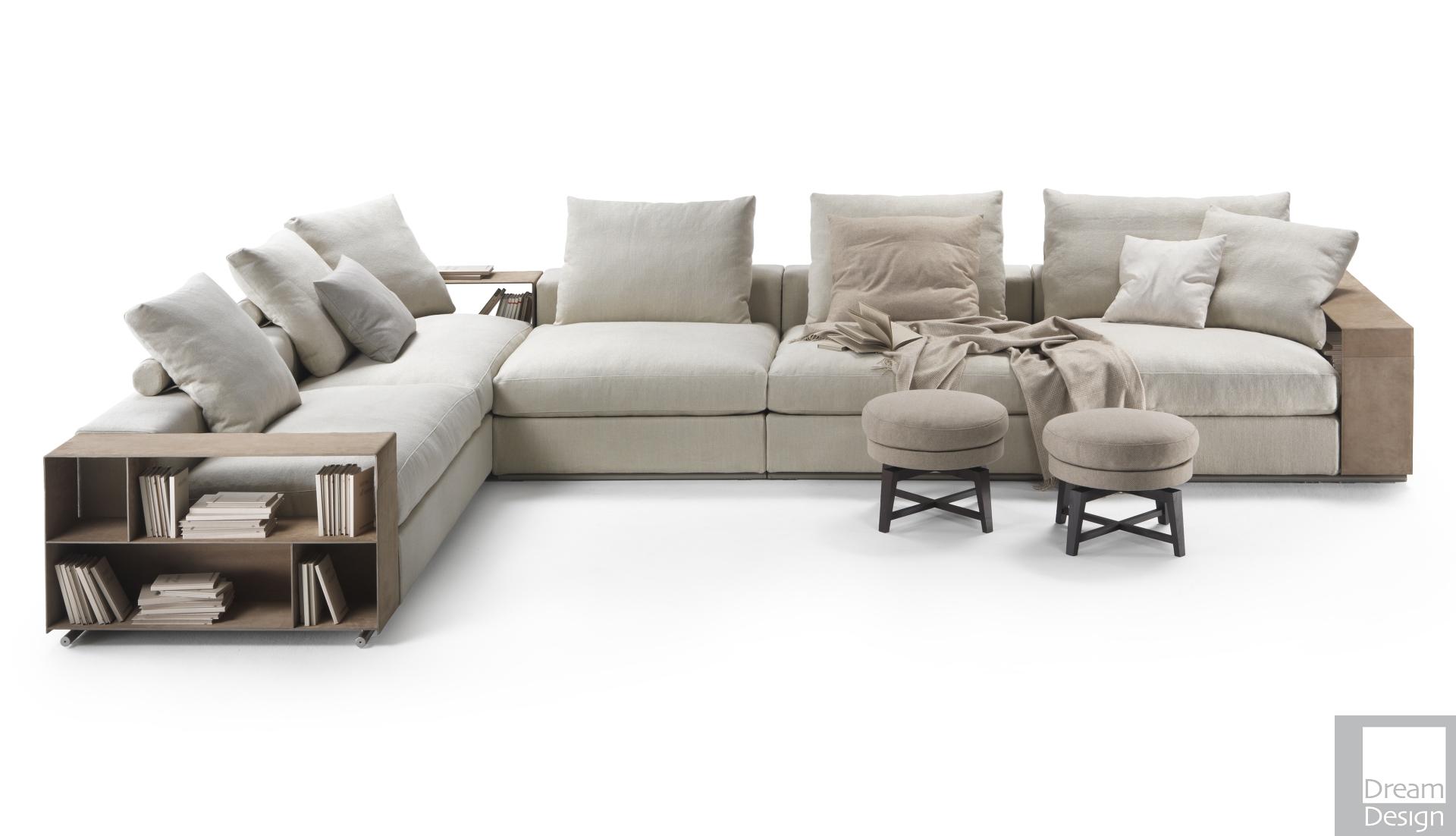 Flexform Groundpiece Modular Sofa – Dream Design Interiors Ltd In Dream Navy 2 Piece Modular Sofas (View 2 of 15)