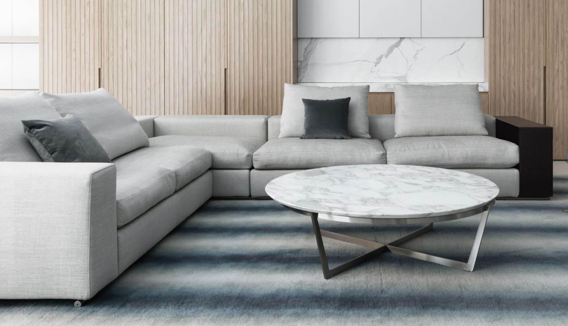Flexform Groundpiece Modular Sofa – Dream Design Interiors Ltd With Dream Navy 2 Piece Modular Sofas (View 4 of 15)