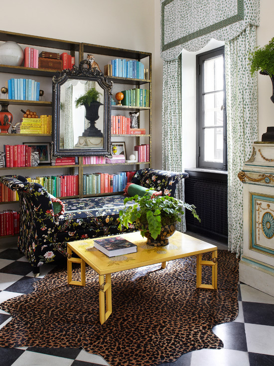 Floral Chintz Sofa – Eclectic – Den/Library/Office Within Chintz Floral Sofas (View 11 of 15)