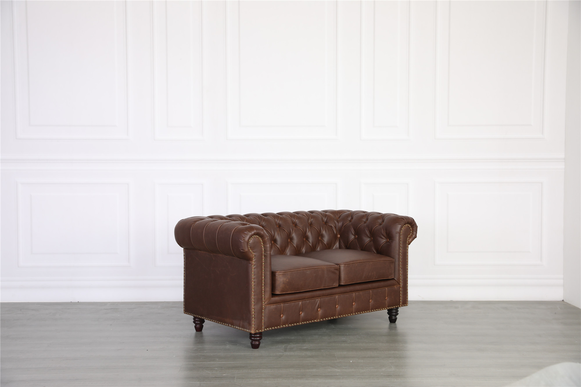 Florence Chesterfield Leather Sofa 2 Seater – Vintage Intended For Florence Leather Sofas (View 11 of 15)