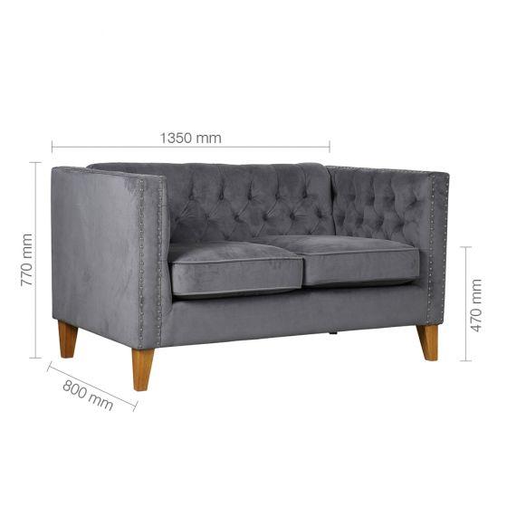 Florence Grey Medium Sofa For Florence Medium Sofas (View 2 of 15)