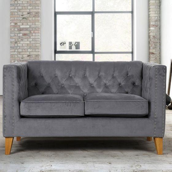 Florence Grey Medium Sofa Pertaining To Florence Medium Sofas (View 4 of 15)