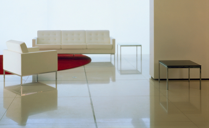 Florence Knoll Medium Side Table – Hivemodern Regarding Florence Medium Sofas (View 10 of 15)
