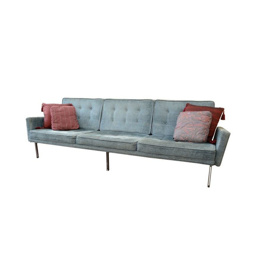 Florence Knoll Mid Century Modern Parallel Bar Sofa In Florence Mid Century Modern Right Sectional Sofas (View 3 of 15)