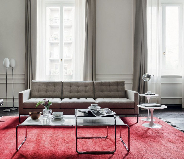 Florence Knoll Relax 3 Seat Sofa   Sofa Inspiration Regarding Florence Sofas And Loveseats (View 6 of 15)