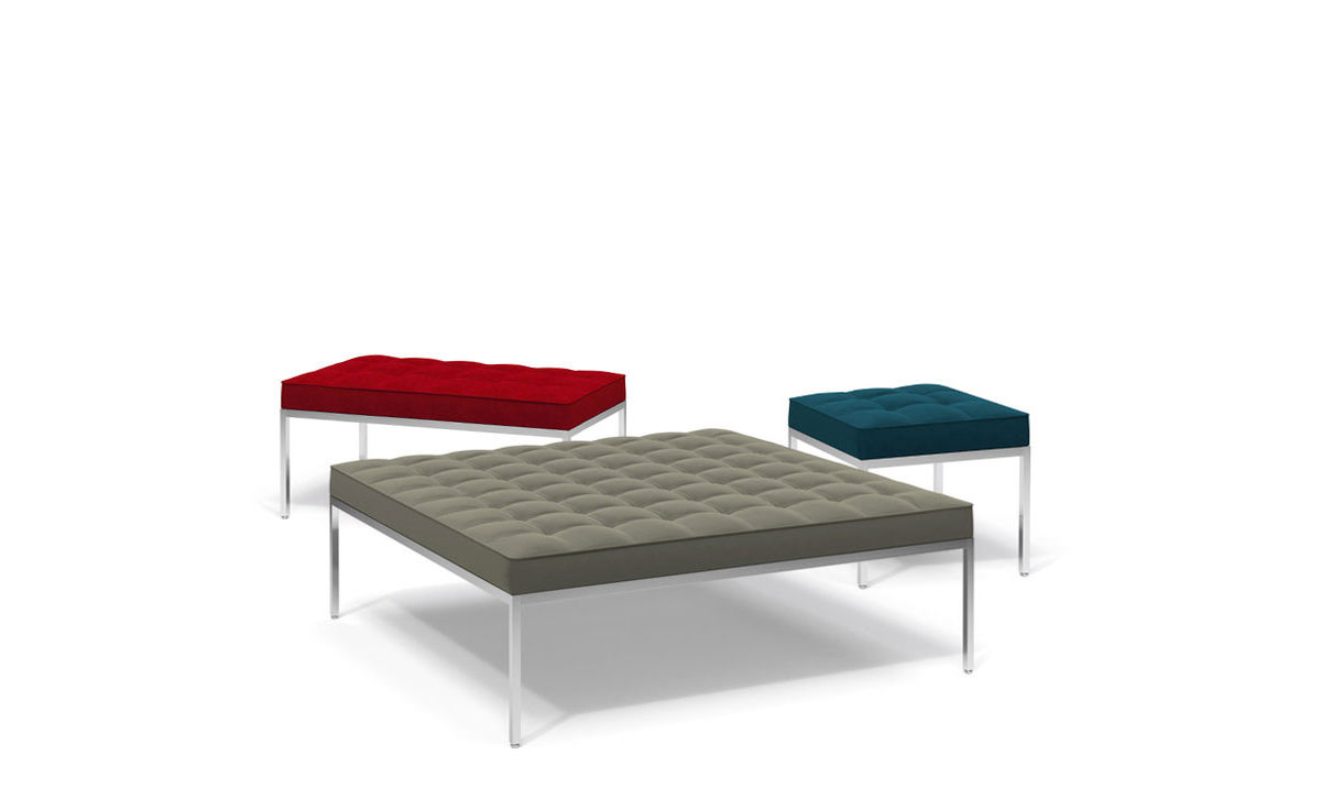 Florence Knoll Relaxed Medium Square Bench – Hivemodern In Florence Medium Sofas (View 15 of 15)