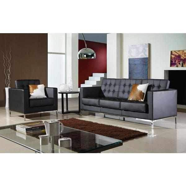 Florence Knoll Style Leather Sofa In 2020   Sofa Regarding Florence Knoll Living Room Sofas (View 13 of 15)