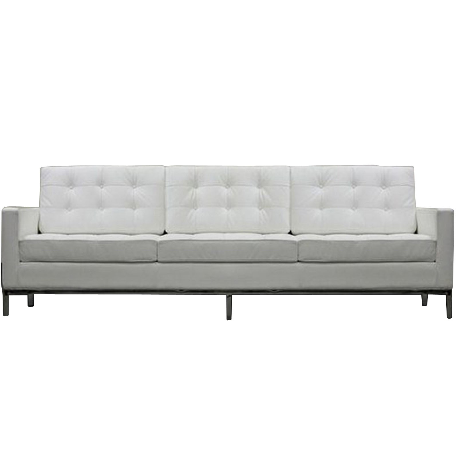Florence Knoll Style Sofa Couch – Leather Pertaining To Florence Leather Sofas (View 8 of 15)