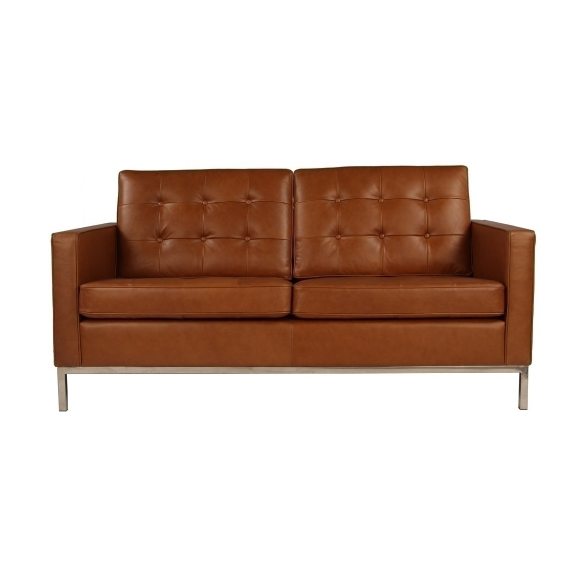 Florence Leather Loveseat | Florence | Njmodern Furniture For Florence Leather Sofas (View 4 of 15)