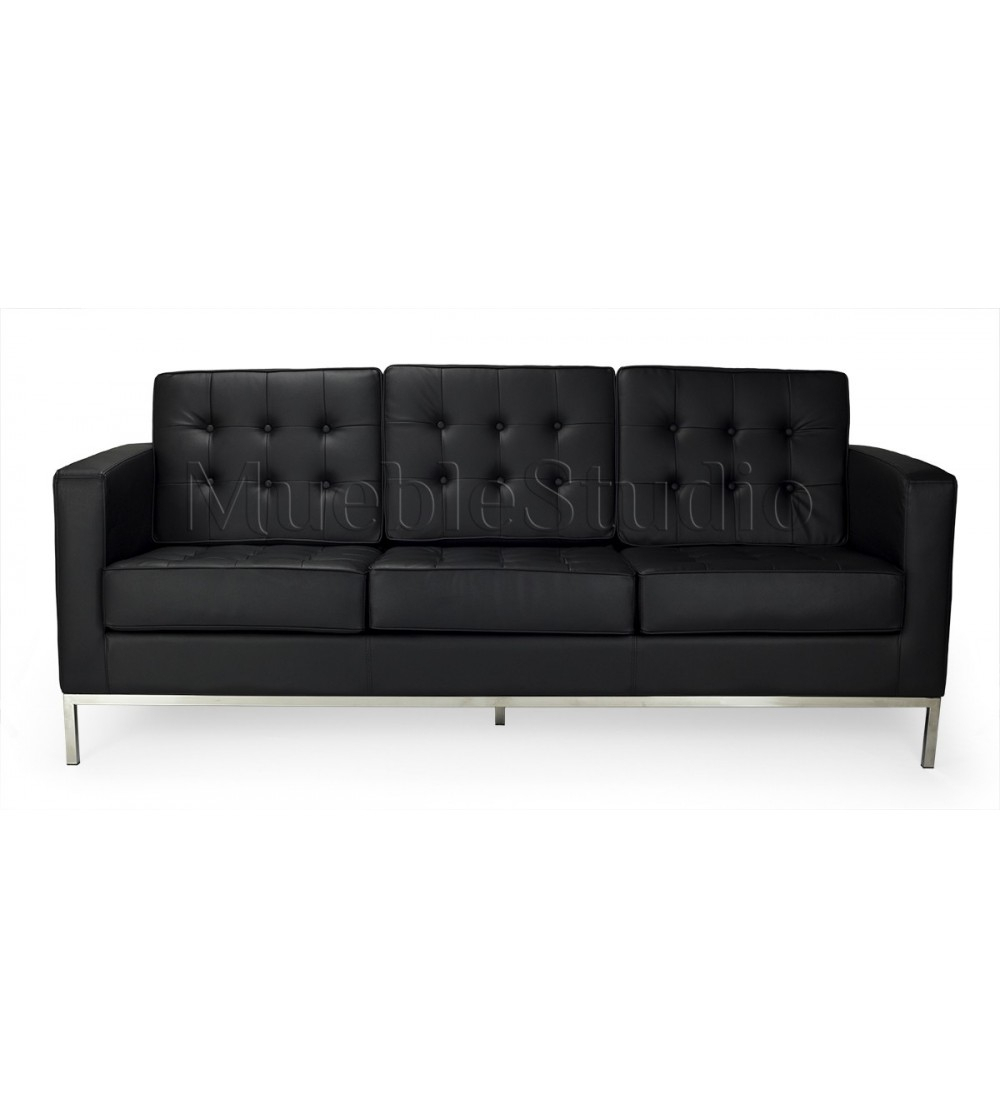 Florence Leather Three Seater Sofaknoll| Mueblestudio With Regard To Florence Leather Sofas (View 1 of 15)