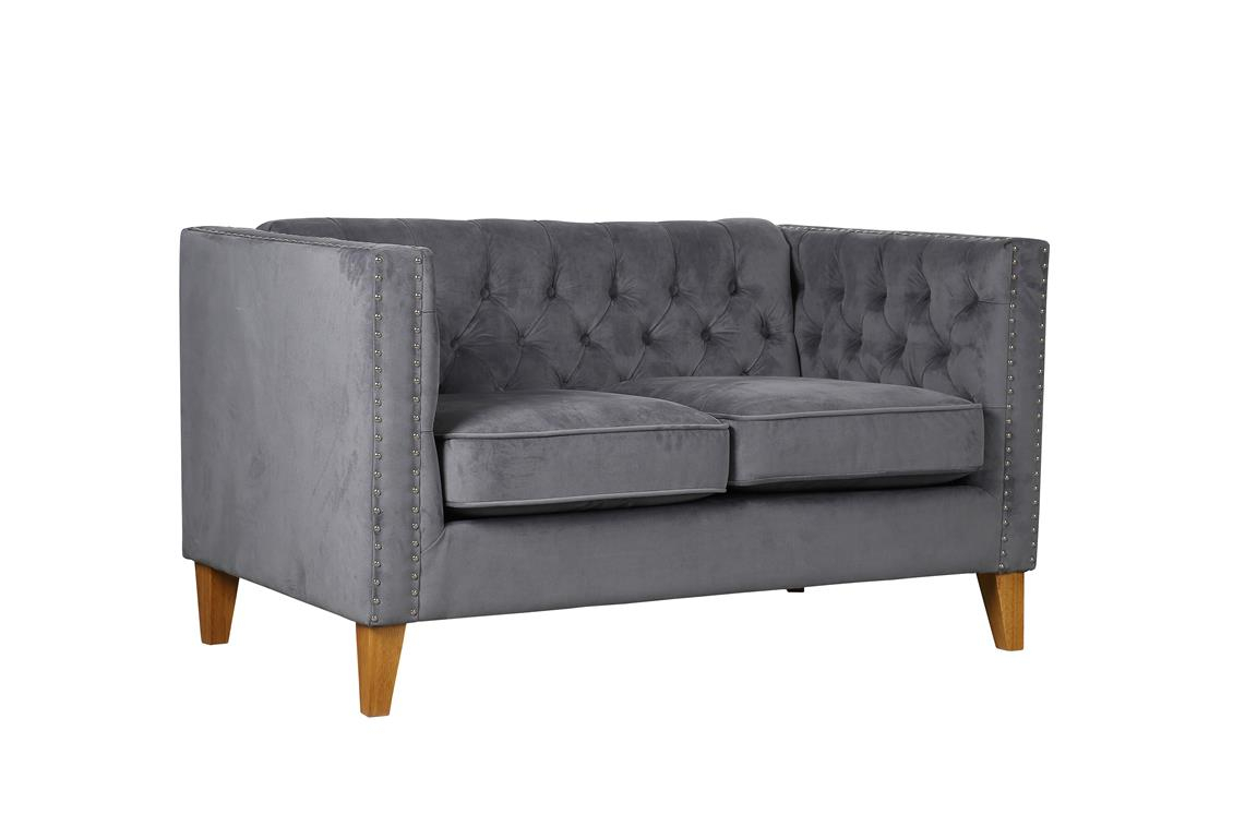 Florence Medium Sofa – (Grey) | Beds Paisley With Florence Large Sofas (View 2 of 15)