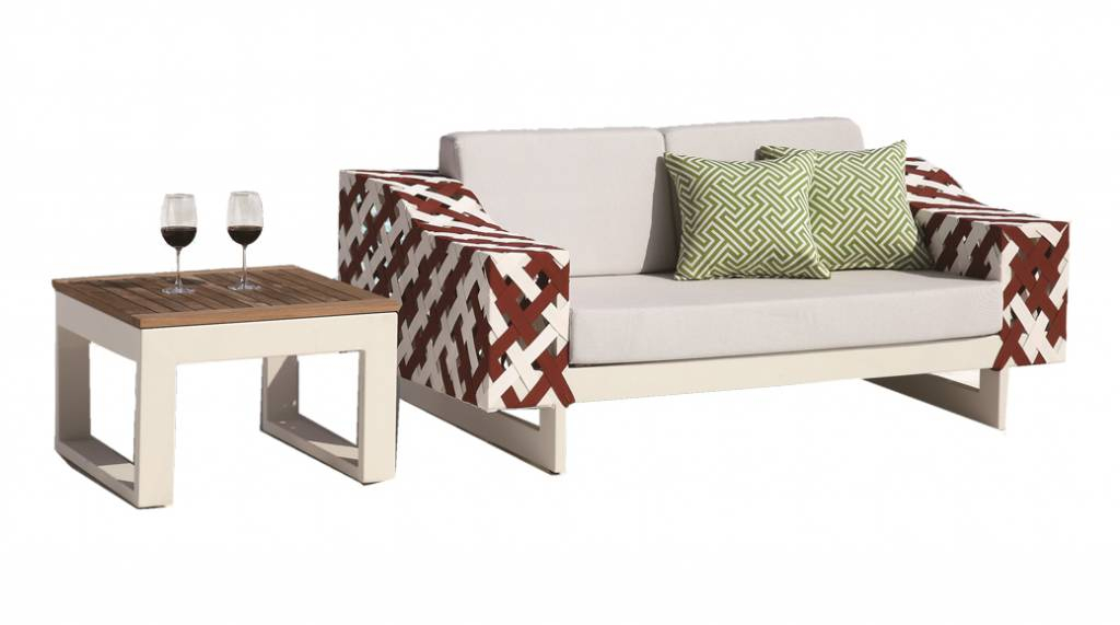 Florence Modern Outdoor Loveseat Set   Modern Outdoor Throughout Florence Sofas And Loveseats (View 10 of 15)