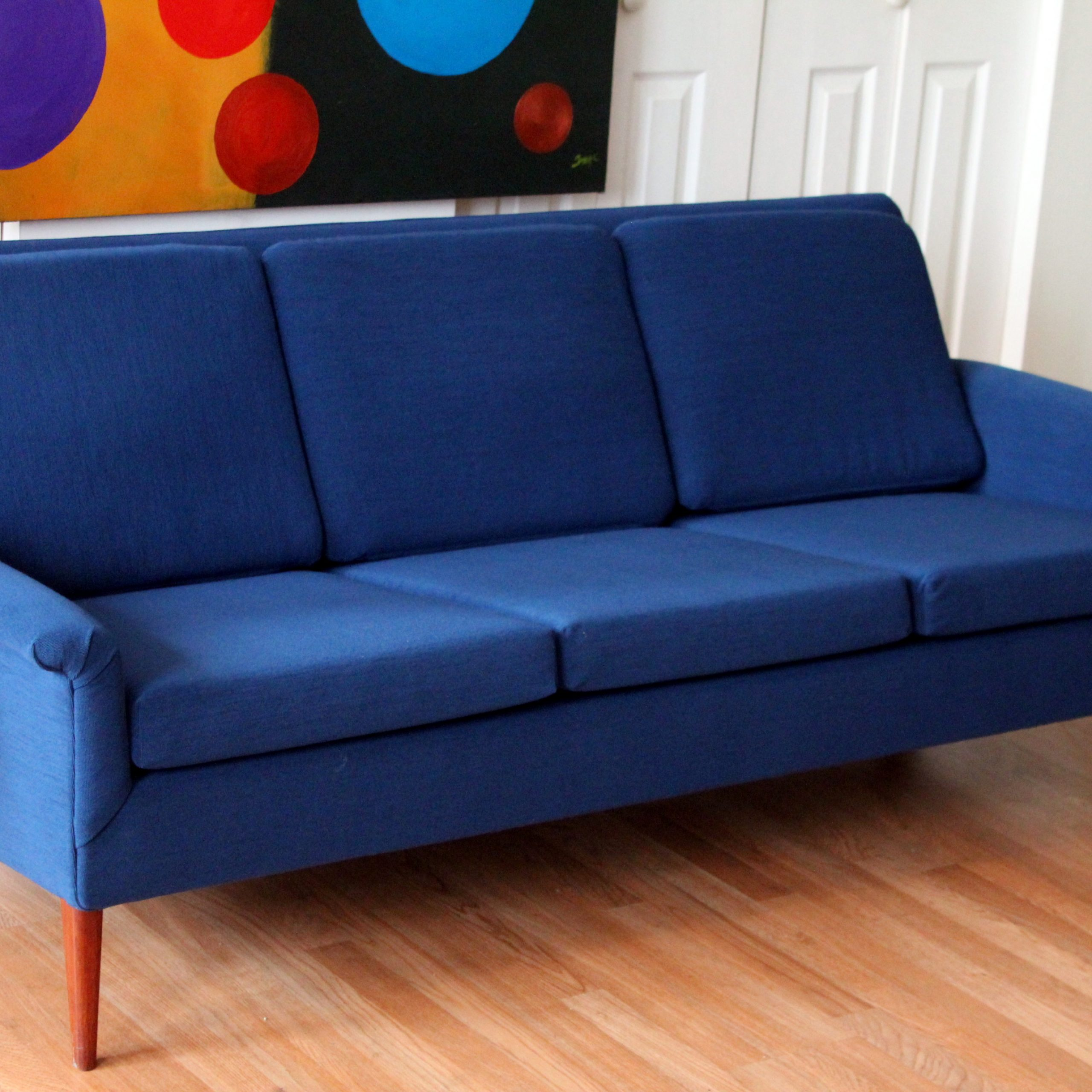 Folke Ohlsson Dux Mid Century Modern Three Seat Sofa | An For Retro Sofas And Chairs (View 11 of 15)