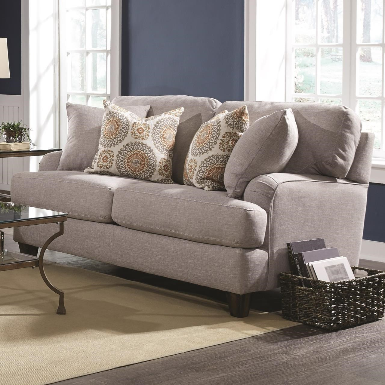 Franklin Carmel Loveseat With Classic Cottage Style Pertaining To Cottage Style Sofas And Chairs (View 2 of 15)