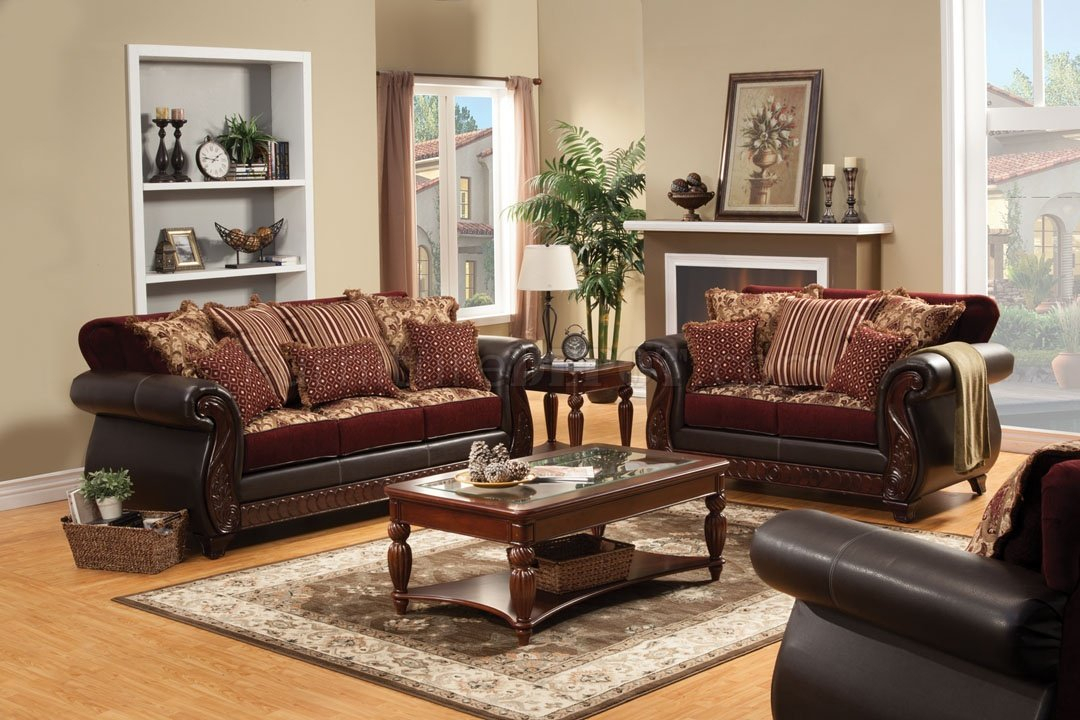 Franklin Sofa Sm6107N In Fabric & Leatherette W/Options Intended For Sofas And Chairs (View 10 of 15)