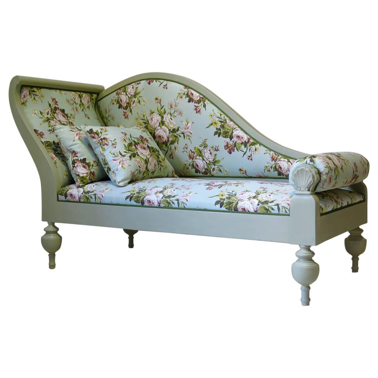 French Baroque Style Chintz Upholstered Daybed, Circa For Chintz Sofas (View 3 of 15)