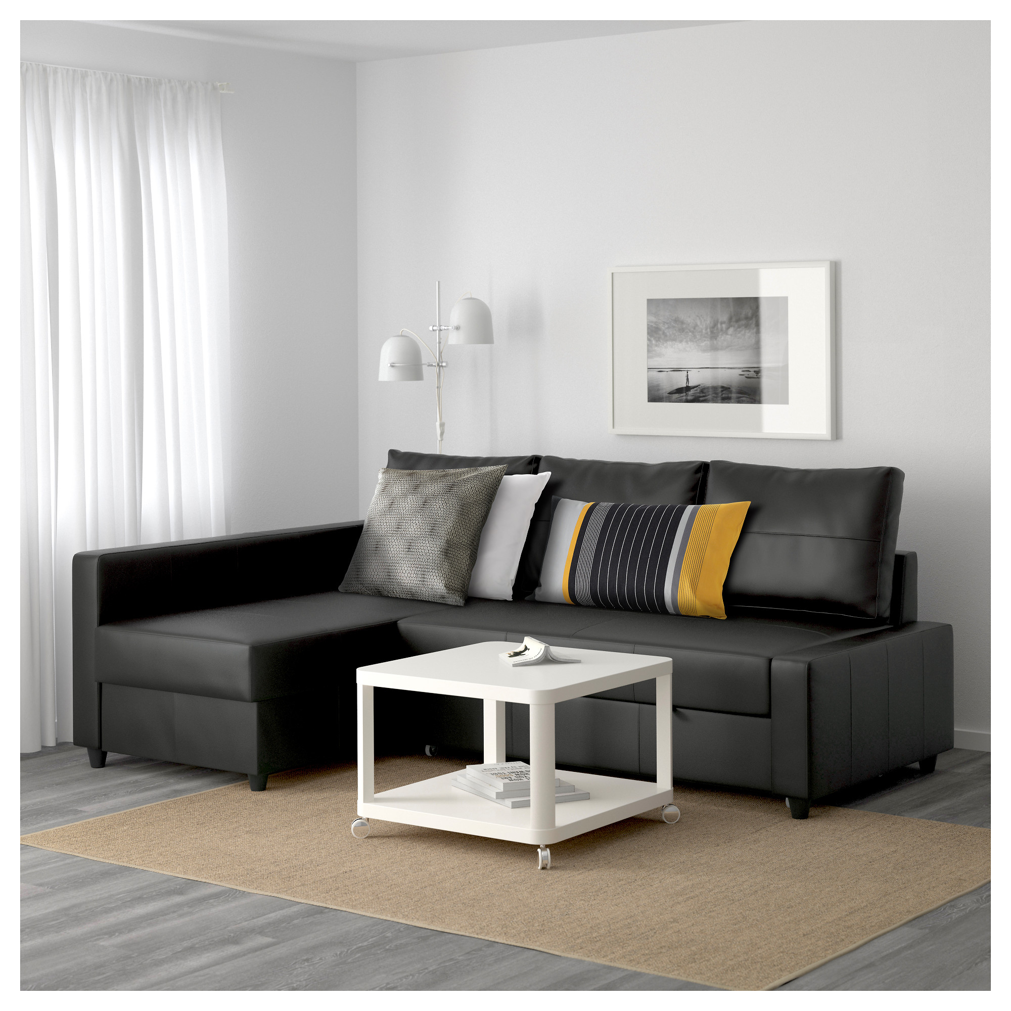 Friheten – Corner Sofa Bed With Storage, Bomstad Black Intended For Ikea Corner Sofas With Storage (View 4 of 15)