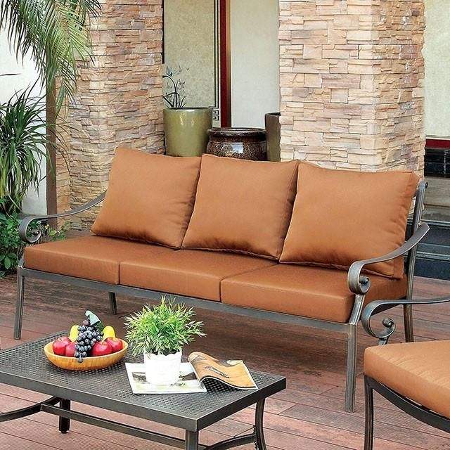 Furniture Of America Bonquesha 4Pc Outdoor Furniture Set Inside 4Pc Beckett Contemporary Sectional Sofas And Ottoman Sets (View 11 of 15)