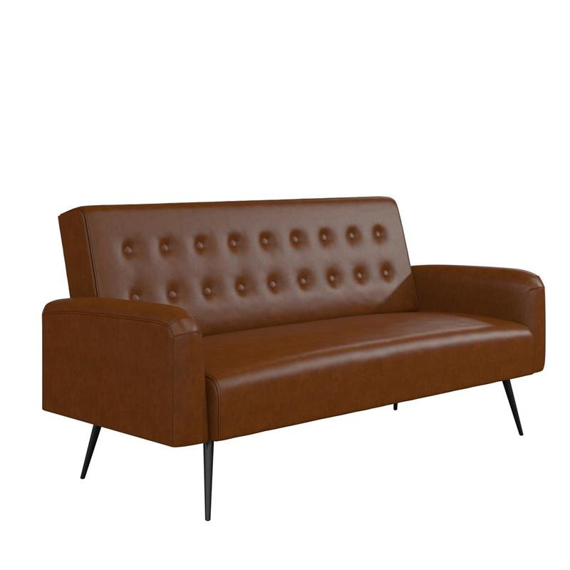 Futons: Shop Futon Beds For Sale Online At Clearance Prices For Celine Sectional Futon Sofas With Storage Camel Faux Leather (View 1 of 15)