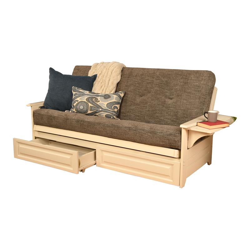 Futons: Shop Futon Beds For Sale Online At Clearance Prices With Regard To Celine Sectional Futon Sofas With Storage Camel Faux Leather (View 4 of 15)