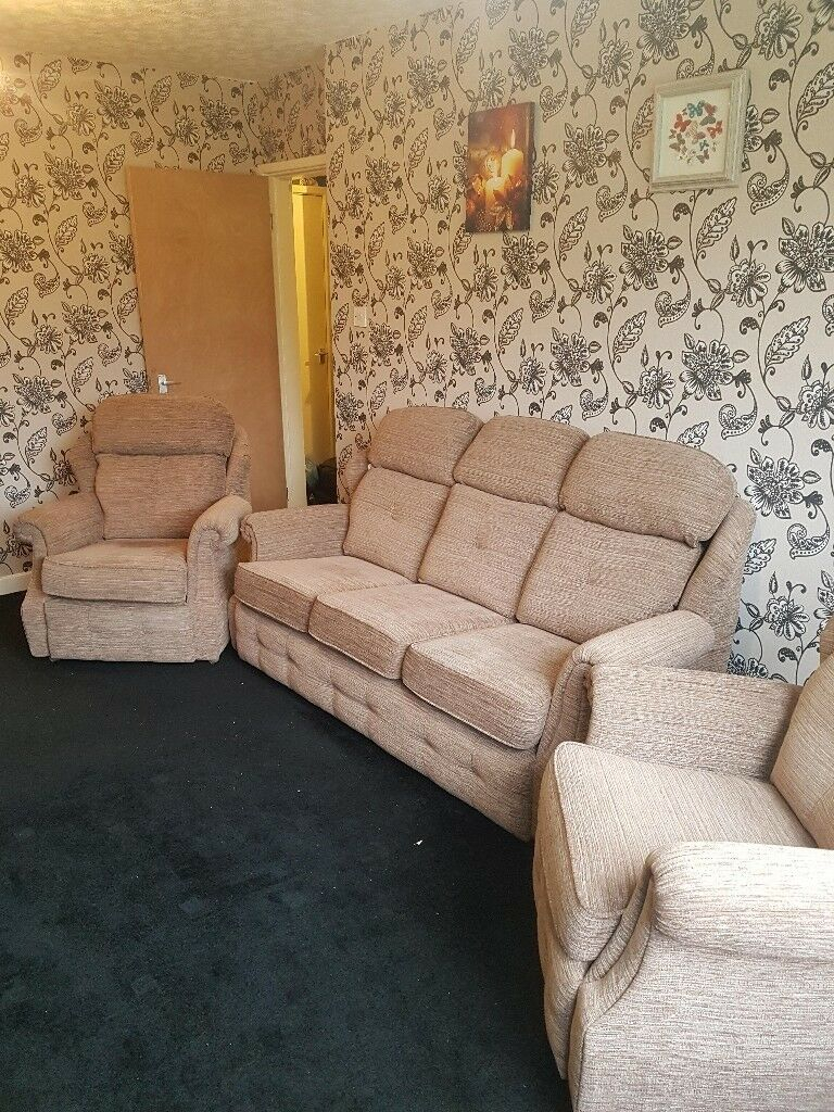 G Plan Wilton 3 Piece Suite Sofa Settee – Used But In An Regarding Wilton Fabric Sectional Sofas (View 15 of 15)