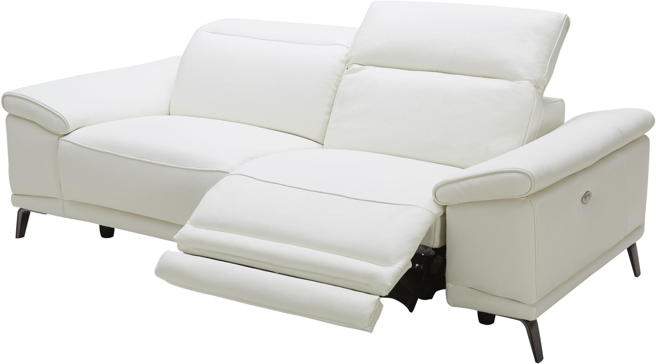 Gaia White Leather Power Reclining Sofa, 18253 S, J&M Throughout Power Reclining Sofas (View 10 of 15)