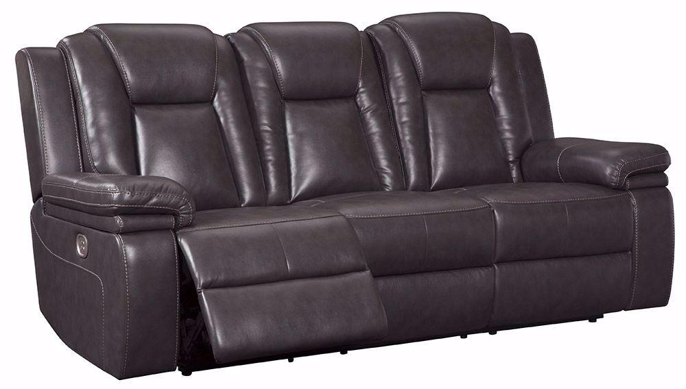 Garristown Gray Brown Power Reclining Sofa | Unclaimed For Expedition Brown Power Reclining Sofas (View 9 of 15)