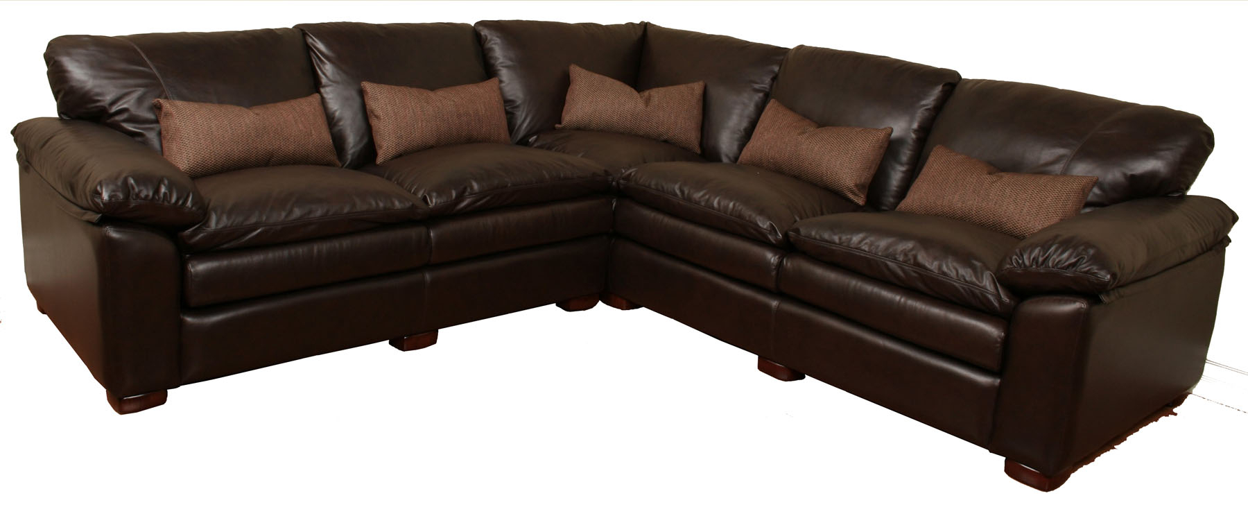 Geneva – Deep Leather Sectional • Leather Creations Pertaining To Custom Made Sectional Sofas (View 10 of 15)