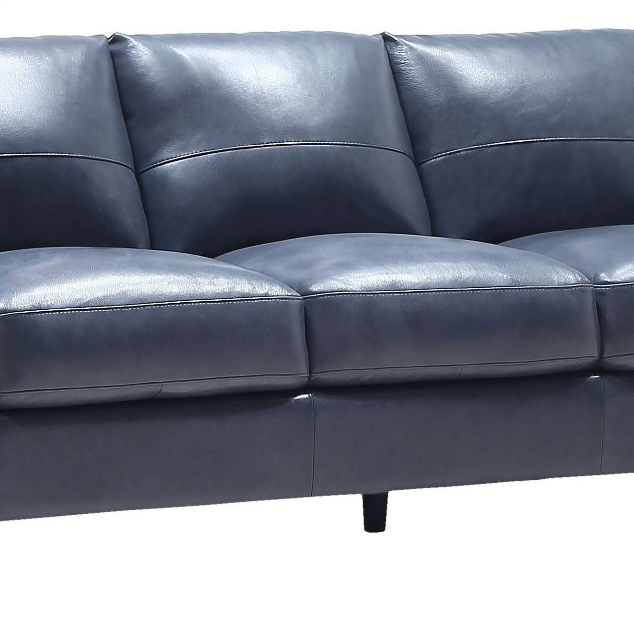 Georgetowne Traverse Blue Leather Sofa – 1Stopbedrooms (View 13 of 15)