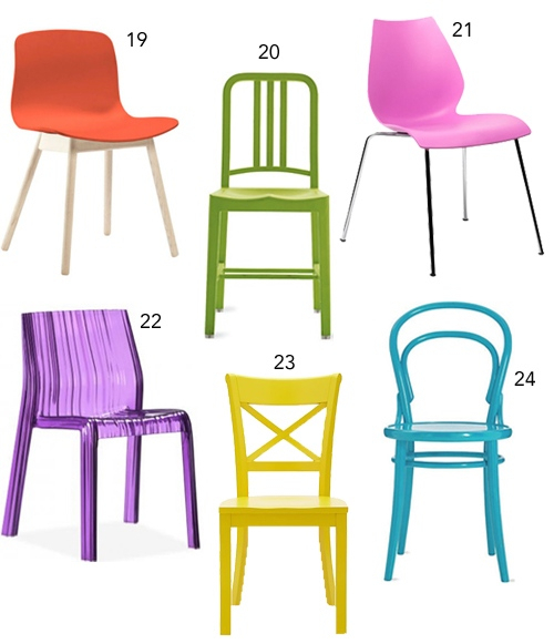 Get The Look: 30 Colorful Dining Chairs – Stylecarrot Within Colorful Sofas And Chairs (View 14 of 15)