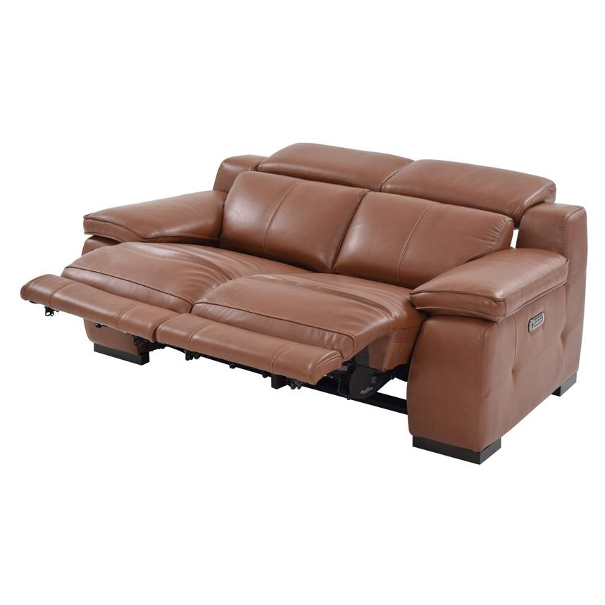 Gian Marco Tan Power Motion Leather Loveseat   El Dorado Within Marco Leather Power Reclining Sofas (View 9 of 15)