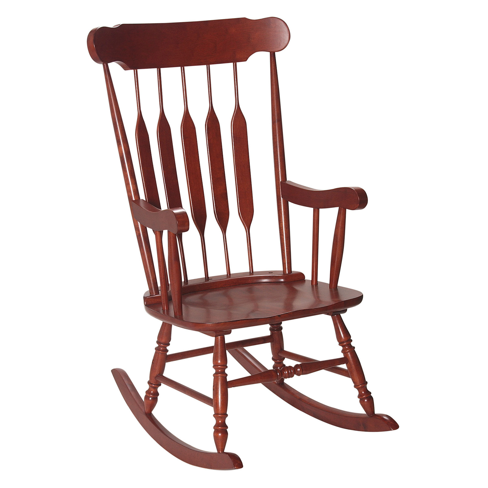 Gift Mark Adult Rocking Chair – Cherry – Indoor Rocking Within Rocking Sofa Chairs (View 13 of 15)