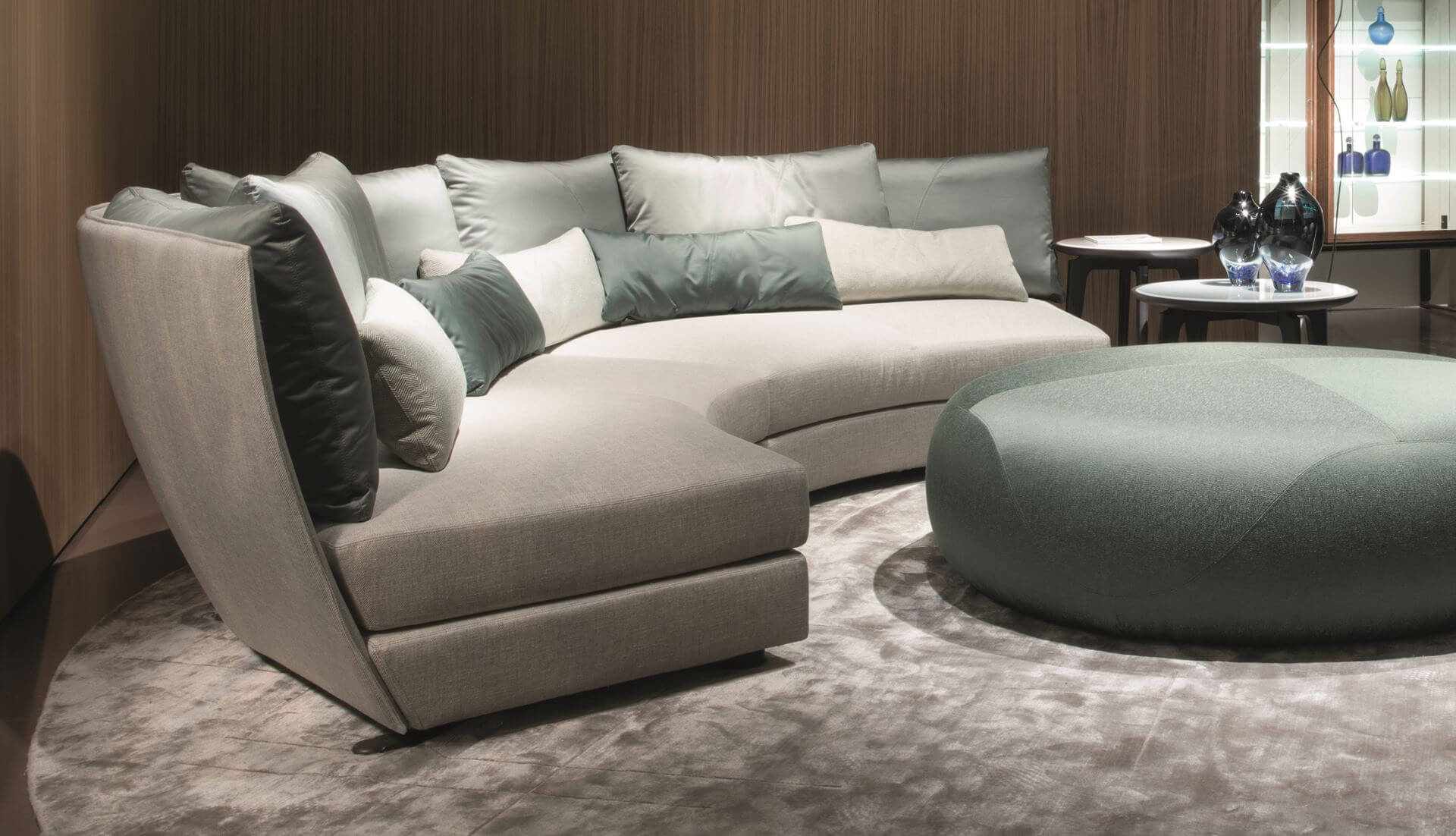 Giorgetti Dhow Curved Modular Sofa – Dream Design With Regard To Dream Navy 2 Piece Modular Sofas (View 1 of 15)