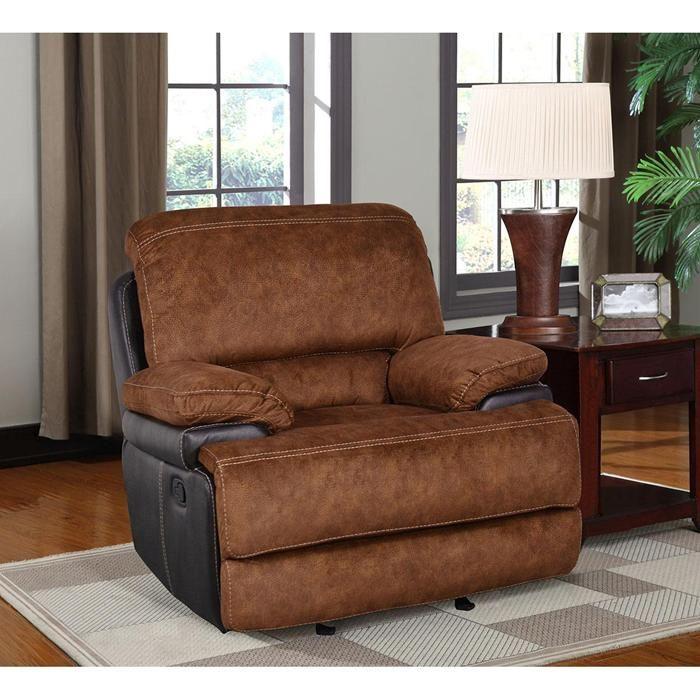 Glider Recliner In Trailblazer Pecan   Nebraska Furniture With Regard To Trailblazer Gray Leather Power Reclining Sofas (View 9 of 15)