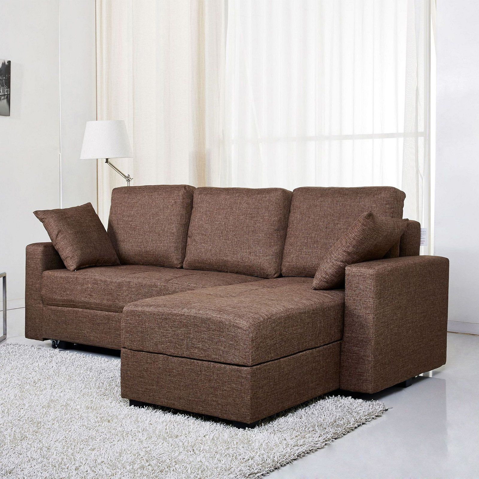 Gold Sparrow Aspen Fabric Convertible Storage Sectional Within Live It Cozy Sectional Sofa Beds With Storage (View 10 of 15)
